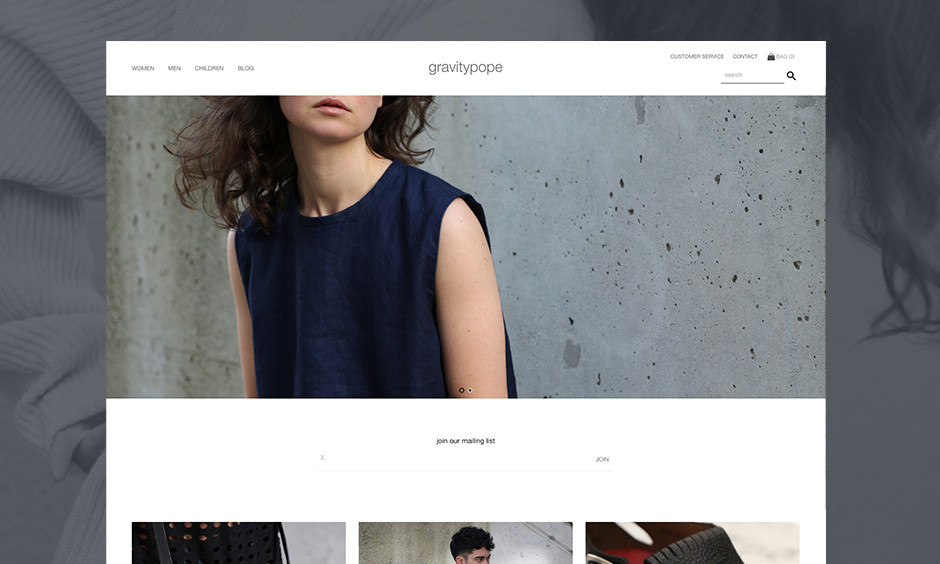 Retail E-Commerce Website Design