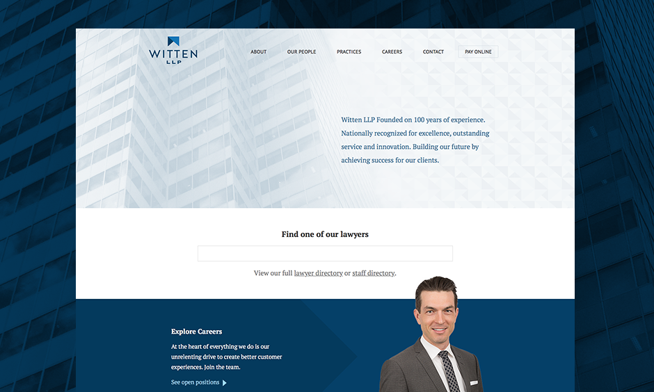 Witten Law Website Design